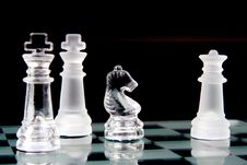 Free Glass Chessmen Stock Photography - 6011522