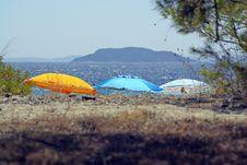 Three Sunshades Royalty Free Stock Images