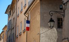 Free Old French Homes With Flag Stock Photo - 6013350
