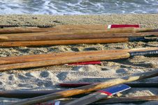 Free Paddles On The Beach Royalty Free Stock Images - 6013499