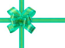 Free Green Bow And Ribbon Royalty Free Stock Images - 6013819