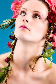 Free Cosmetic Flower Girl Stock Photo - 6014130