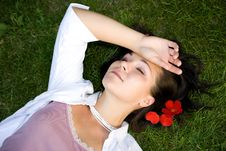 Free Relaxing Woman Royalty Free Stock Photography - 6014137
