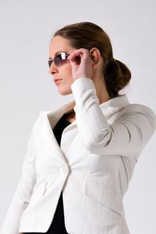 Free Sturdy Girl With Sunglasses Royalty Free Stock Photo - 6014155