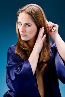Free Young Woman Caring Of Her Hair Royalty Free Stock Photography - 6014197