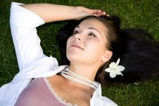 Free Relaxing Woman Royalty Free Stock Photo - 6014505