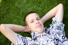 Free Relaxing Teenager Stock Photo - 6014600