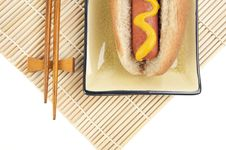 Free Hot Dog And Chopsticks Royalty Free Stock Image - 6014646