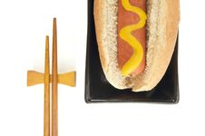 Free Hot Dog And Chopsticks Royalty Free Stock Image - 6014656