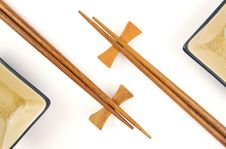 Free Abstract Chopsticks And Bowls Stock Image - 6014661