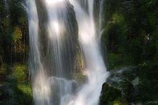Falls Under Sunlit Stock Image