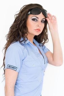 Free Brunette Security Girl Stock Photography - 6016502
