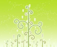 Free Swirly Magic Trees Background Stock Images - 6016504