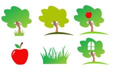 Free Nature Icon Set Royalty Free Stock Images - 6016899