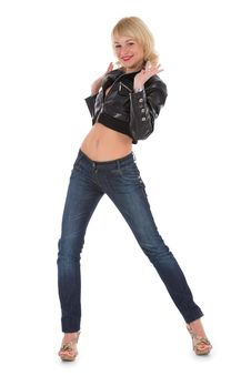 Free Portrait Of The Girl In Jeans Royalty Free Stock Images - 6017019