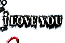 Free I Love You Background Stock Image - 6017121