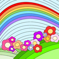 Free Rainbow Flowers Royalty Free Stock Image - 6017126