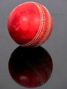 Free Cricket Ball On Black Surface Stock Image - 6017551