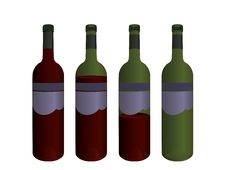 Free Wine Bottles Royalty Free Stock Images - 6017769