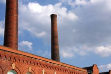 Free Smoke Stacks On An Old Power Plant Royalty Free Stock Photo - 6018385