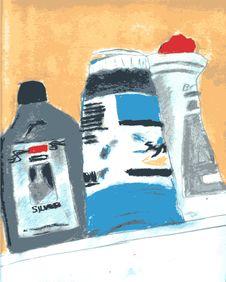 Artist Paint Bottles Royalty Free Stock Photos