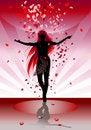 Free The Female Silhouette Dances Stock Photos - 6020493