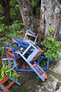 Free Discarded Chairs In Nicaragua Stock Image - 6021211
