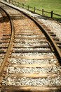 Free Curving Rail Road Tracks In Park Royalty Free Stock Photos - 6021548