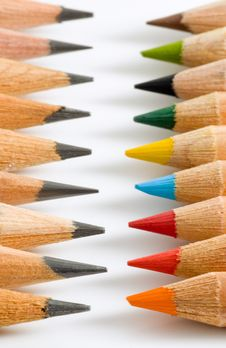 Free Colourful Pencils Royalty Free Stock Photo - 6020275