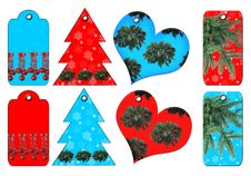 Gift Tags Of Different Forms. Royalty Free Stock Photos