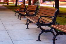 Free Park Benches Royalty Free Stock Photography - 6021517