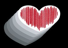 Free Heart With Strokes Stock Image - 6021791
