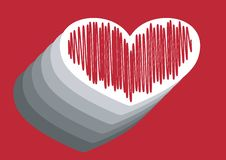 Free Heart With Strokes Royalty Free Stock Image - 6021806