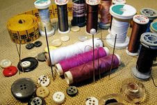 Free Several Sewing Kit Royalty Free Stock Images - 6021979