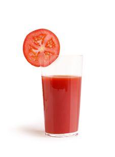 Free Glass Of Tomato Juice Royalty Free Stock Photos - 6022318