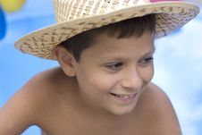 Free Young Boy With  Hat Royalty Free Stock Image - 6022856