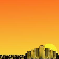 Free Orange And Yellow Background Stock Image - 6023501