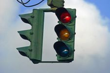 Free Red Traffic Light Royalty Free Stock Photos - 6023578