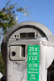 Free Parking Meter Royalty Free Stock Photos - 6023868