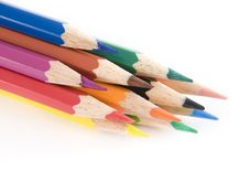 Free Vibrant Coloring Pencils Stock Image - 6024431