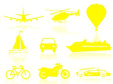 Free Transport Silhouette Royalty Free Stock Photography - 6024727