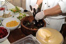 Preparing Salads Royalty Free Stock Images
