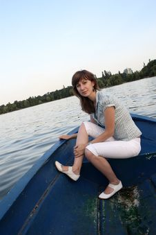 Free Girl On A Boat Stock Images - 6025184