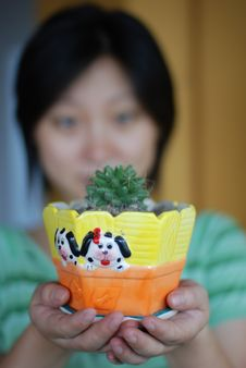 Free Cactus In Hands Stock Photos - 6026443