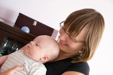 Free Mother With Newborn Smiling Stock Photo - 6026730