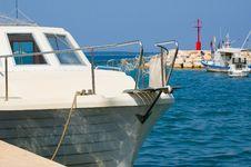 Yacht Prow Stock Image