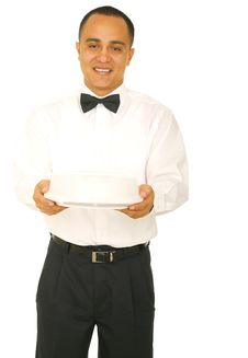 Free Waiter Holding Food Stock Photography - 6026812