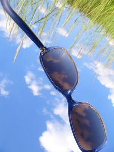 Solar Glasses And Sky Stock Photos