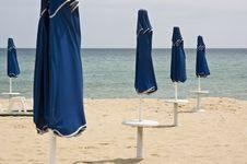 Free Beach Umbrellas, Bulgaria Stock Images - 6027584