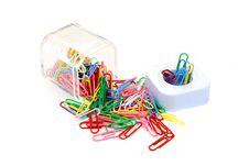 Colorful Paper Clips Royalty Free Stock Photography